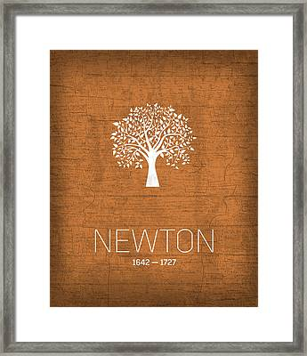 The Inventors Series 010 Newton Framed Print by Design Turnpike