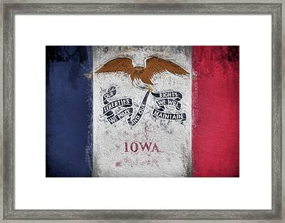 The Iowa Flag Framed Print by JC Findley