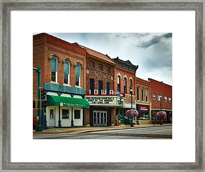 The Iowa Theatre Framed Print by Mountain Dreams