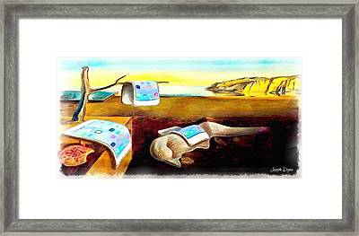 The Iphone Surrealism Framed Print
