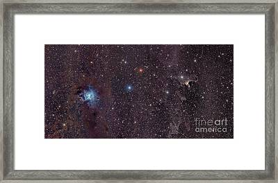 The Iris Nebula In Cepheus Framed Print by John Davis