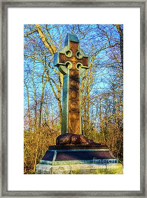 The Irish Brigade Cross Framed Print by William Rogers