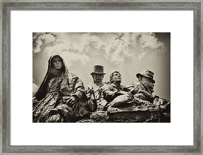 The Irish Emigration Framed Print by Bill Cannon