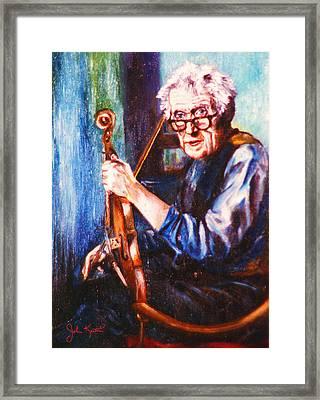The Irish Violin Maker Framed Print by John Keaton