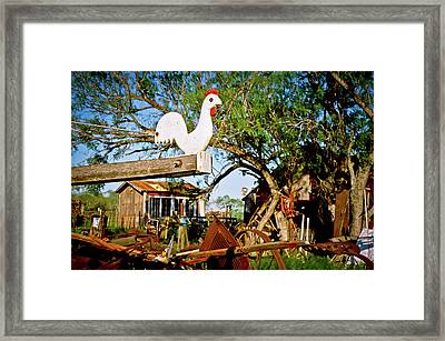 Framed Print featuring the photograph The Iron Chicken by Linda Unger