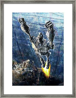 The Iron Giant Framed Print