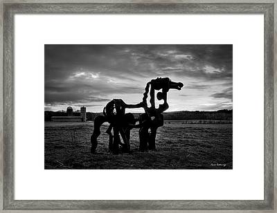 The Iron Horse Classic Art Framed Print