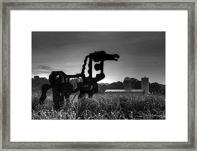 The Iron Horse Classic Black White  Framed Print by Reid Callaway