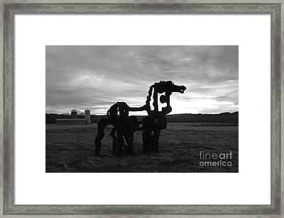 The Iron Horse Classic Art Framed Print by Reid Callaway