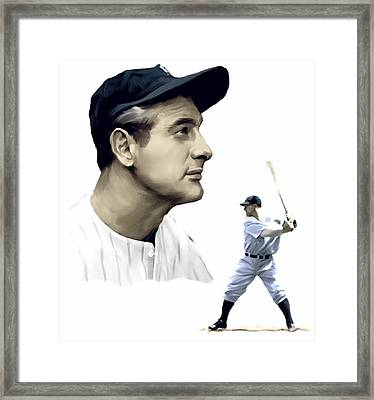 The Iron Horse  Lou Gehrig Framed Print