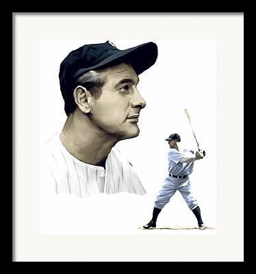 Yankee Captain Lou Gehrig Framed Prints