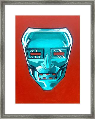 The Iron Mask Framed Print by George Penon Cassallo