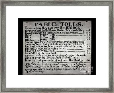 The Ironbridge Tolls Framed Print by Adrian Evans
