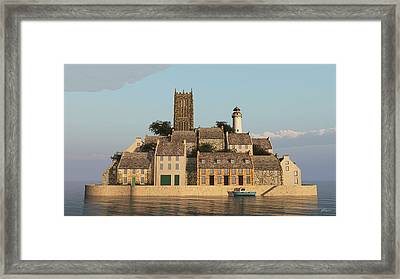 The Faraway Island Framed Print