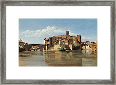 The Island And Bridge Of San Bartolomeo Framed Print