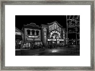 The Island Arcade In Black And White Framed Print