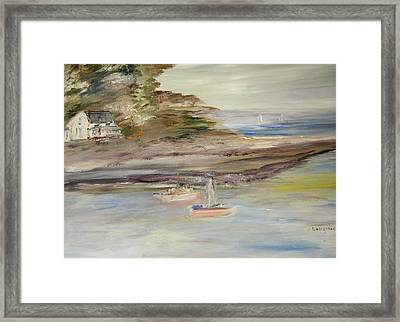 The Island Cove Framed Print by Edward Wolverton