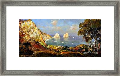 The Island Of Capri And The Faraglioni Framed Print