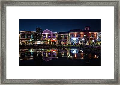The Island Shops Framed Print