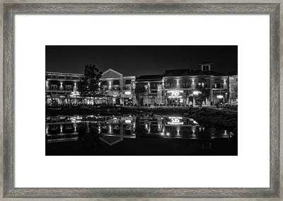 The Island Shops In Black And White Framed Print