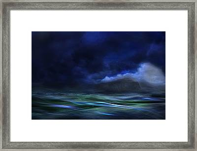 The Island Framed Print by Willy Marthinussen
