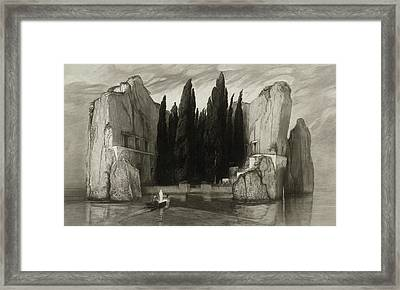 The Isle Of The Dead Framed Print by Max Klinger