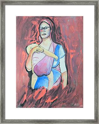The Israeli Rosa Parks Framed Print by Esther Newman-Cohen