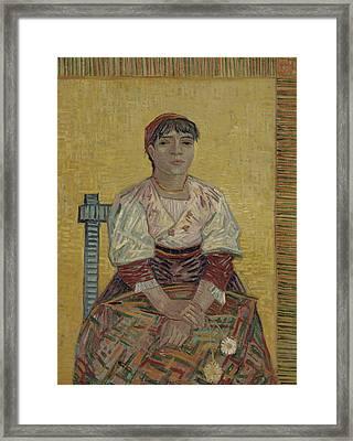 The Italian Woman  Framed Print