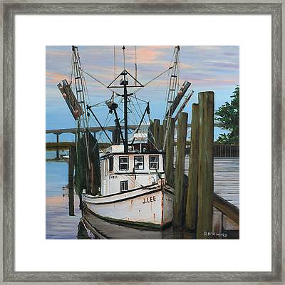 Framed Print featuring the painting the J LEE by Rick McKinney