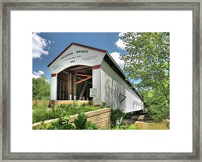 The Jackson Covered Bridge Framed Print