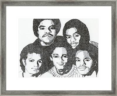 The Jacksons Tribute Framed Print