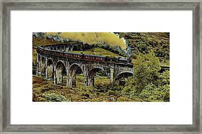 The Jacobrite At Glenfinnan Viaduct Framed Print