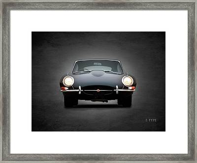 The Jaguar E Type Framed Print by Mark Rogan