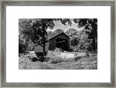 The James Covered Bridge Bw Framed Print