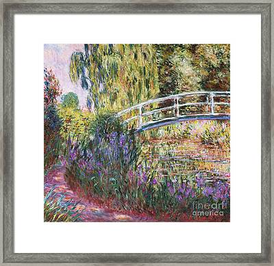 The Japanese Bridge Framed Print by Claude Monet
