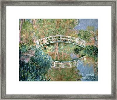 The Japanese Bridge Framed Print by Claude Monet