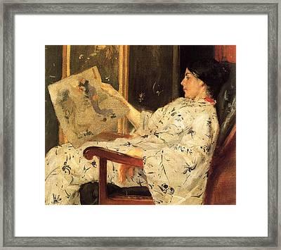 The Japanese Print Framed Print by William Merritt