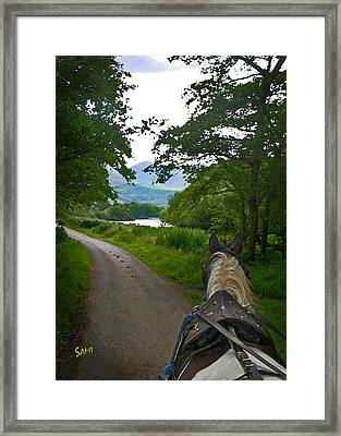 The Jaunting Cart Framed Print by Susie Myers