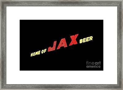 The Jax Beer Sign Artwork Framed Print by Joseph Baril
