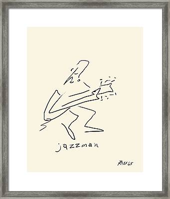 The Jazz Man Framed Print by Ross Powell