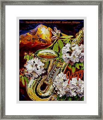 The Jazz Poster That Never Was Framed Print by Mike Hill