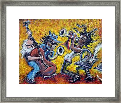 The Jazz Trio Framed Print by Jason Gluskin