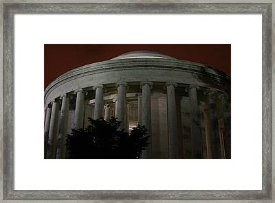 The Jefferson Memorial At Night Framed Print by Brian M Lumley