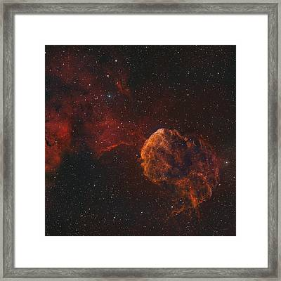 The Jellyfish Nebula Framed Print by Rolf Geissinger