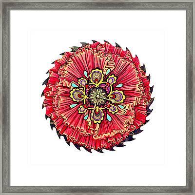 The Jessie-rose Clock Blossom Framed Print by Jessica Sornson