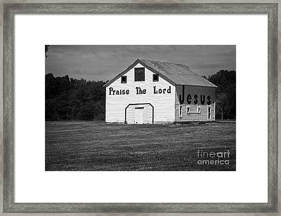 The Jesus Barn 1 Framed Print