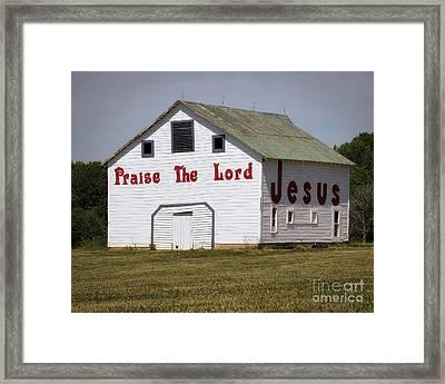 The Jesus Barn 2 Framed Print