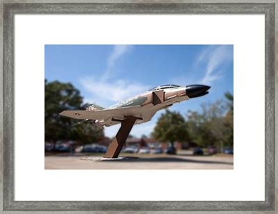 The Jet Flown By Gen. Daniel Chappie James Framed Print by Arnold Hence