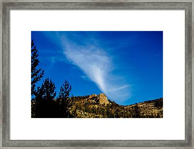The Jet Strean Up At 10000 Ft Framed Print by Brian Williamson
