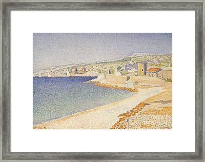 The Jetty At Cassis Framed Print by Paul Signac
